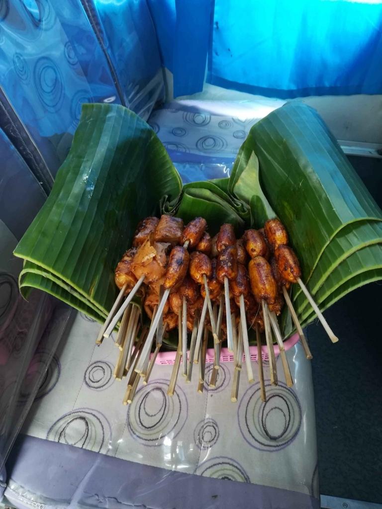 フィリピンの焼きバナナ
