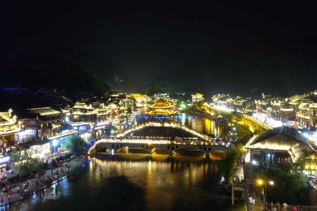 鳳凰古城の夜景