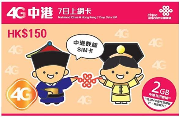 中国のSIMカード