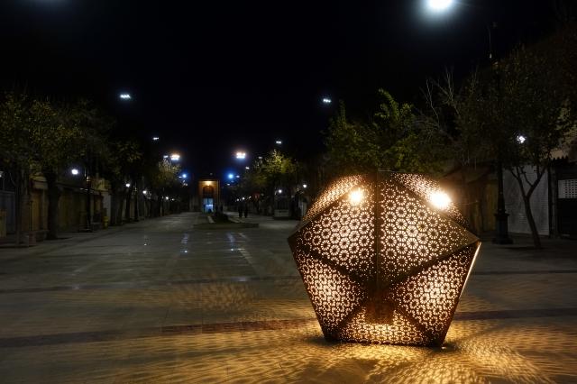 イランのシーラーズの夜景