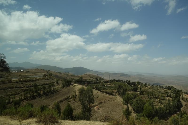 エチオピアの山々
