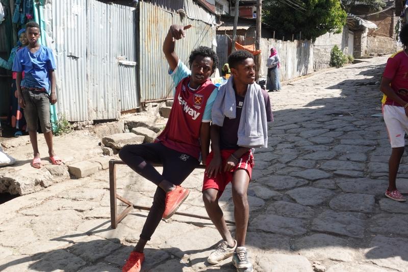 アディスアベバのエチオピア人たち
