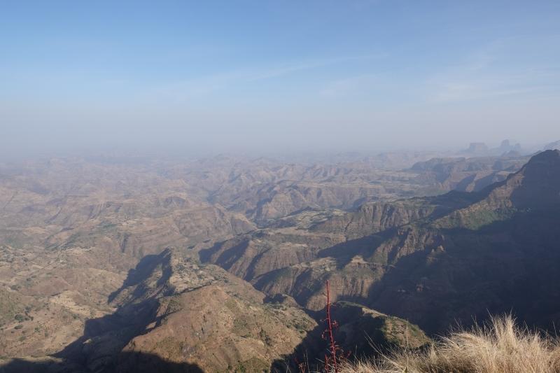 シミエン国立公園からの眺め