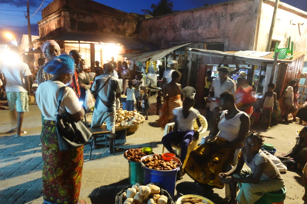 モザンビーク島のマーケット