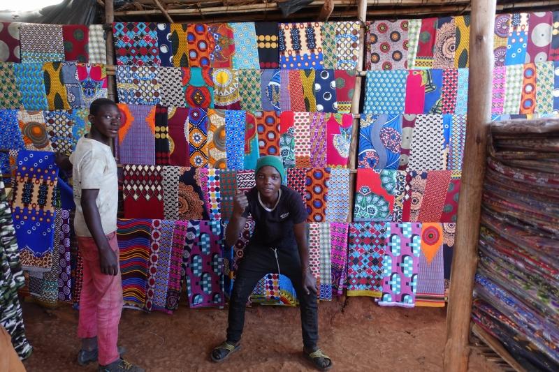 リシンガの布の市場