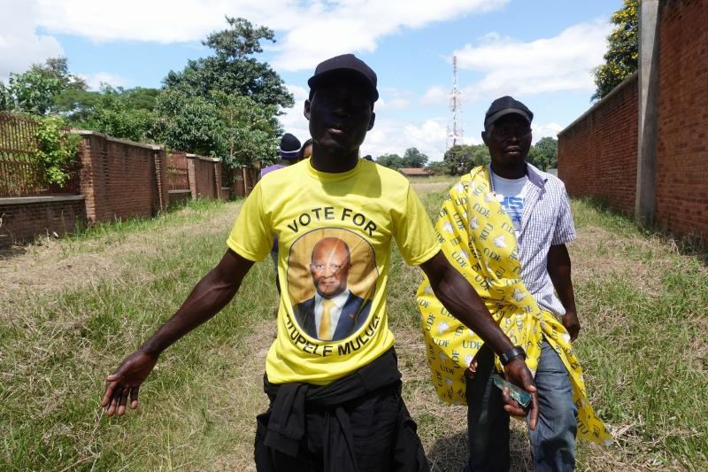 マラウィの政治集会