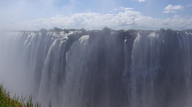 ザンビアのビクトリアフォールズ